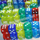 Transparent Plastic Casino Magic Dice For Reomote Control Dice Device