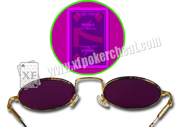 Metal Frame Gambling Glasses For Marked Cards / Magic Tricks